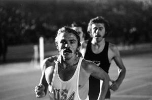 15 Sep 1972:  Steve Prefontaine of the USA in action during a track and field event at Crystal Palace in London, England.