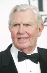 Andy Griffith poses backstage at the 2nd Annual TV Land Awards held on March 7, 2004 at The Hollywood Palladium, in Hollywood, California.