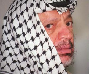 Yasser Arafat, in a 1996 file photo.