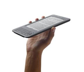 This product photo provided by Amazon shows the Kindle 3 reader.