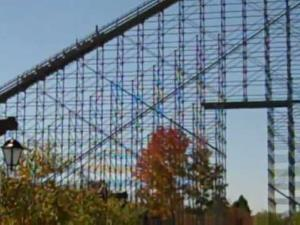 Voyage Coaster at Holiday World, rated by many as the top wooden roller coaster in the world.