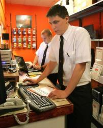 Geek Squad agents in June, 2006.