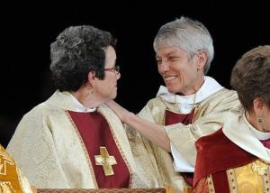 The ordination and consecration of two Episcopal priests in 2010.