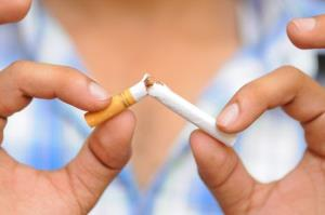 The average cigarette quitter gains about 10 pounds in a year.