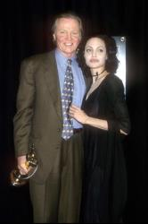 Angelina Jolie with her father Jon Voight , March 10, 2000, at the ShoWest Awards 2000.