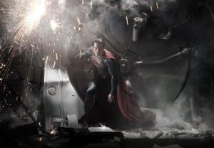 In this image released by Warner Bros. Pictures, Henry Cavill is shown as Superman in a scene from the upcoming film Man of Steel.