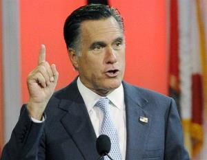 Mitt Romney speaks in Houston.