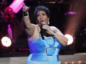 This Jan. 14, 2012 file photo, shows Aretha Franklin performing during the BET Honors at the Warner Theatre in Washington.