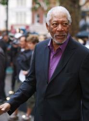 Morgan Freeman arrives for the European premiere of his latest film 'The Dark Knight Rises' in London's Leicester Square on July 18, 2012. AFP PHOTO/Max Nash