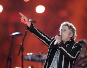 Roger Daltrey of The Who performs during halftime of the Super Bowl in 2010.