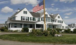 The main home in the Kennedy compound is now barred to family, and an institute founded in Ted Kennedy's name is charging family members a rental fee to use the lawn, reports the Boston Globe.
