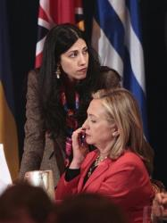 Huma Abedin is seen during the Open Government Partnership meeting in New York, Tuesday, Sept., 20, 2011.