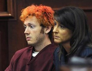 James Holmes appears in Arapahoe County District Court with defense attorney Tamara Brady in this file photo.
