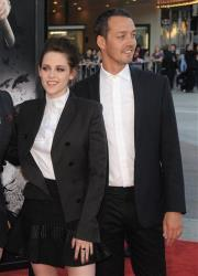 This May 29, 2012 file photo shows actress Kristen Stewart and director Rupert Sanders attending the Snow White and the Huntsman screening in Los Angeles.