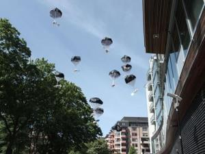 Bears invade Belarus by parachute.