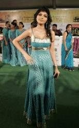 Sherlyn Chopra poses as she arrives at the International Indian Film Academy, or IIFA, awards event in Colombo, Sri Lanka, Saturday, June 5, 2010.