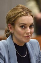 Lindsay Lohan is seen during a progress report on her probation for theft charges at Los Angeles Superior Court Thursday, March 29, 2012.