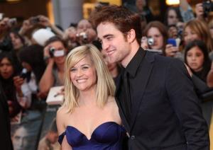 Reese Witherspoon and Robert Pattinson arrive for the UK film premiere Water For Elephants  at the Westfield centre in London, Tuesday, May 3, 2011.