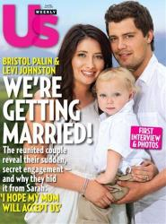 In this magazine cover image released by Us Weekly, Bristol Palin poses with Levi Johnston and their son Tripp on the cover of the July 26, 2010 issue of Us Weekly magazine.