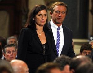 In this Aug. 29, 2009 file photo, Robert F. Kennedy Jr. and his wife Mary arrive during funeral services for US Senator Edward Kennedy at the Basilica of Our Lady of  Perpetual Help in Boston.