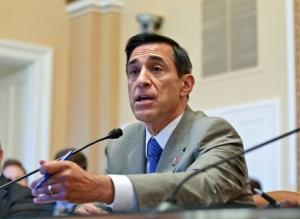 Rep. Darrell Issa, R-Calif., goes to the House Rules Committee, on Capitol Hill in Washington, Wednesday, June 27, 2012.
