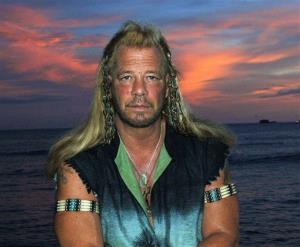 Bounty hunter Duane Dog Chapman, star of the Hawaii-based reality show, Dog the Bounty Hunter, is seen on Waikiki Beach, in Honolulu.