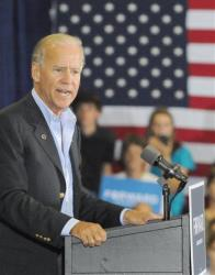 Vice President Joe Biden speaks during a campaign stop at the Spiller Elementary School in Wytheville, Va., Tuesday, Aug. 14,  2012.