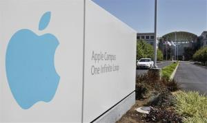 This Monday, Aug. 20, 2012, photo, shows Apple headquarters in Cupertino, Calif., Monday, Aug. 20, 2012. On Monday, Apple set a new record for the most valuable company at $621 billion, beating Microsoft's 1999 high.