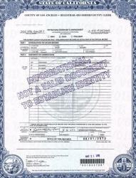 This photo released by the Los Angeles County Registrar/County Clerk shows page 2 of actress Natalie Wood's death certificate.