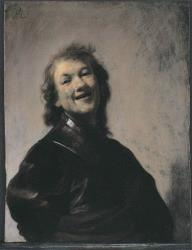The 1628 self-portrait Rembrandt Laughing by Rembrandt is seen in Amsterdam, Netherlands. This is not the Rembrandt in question.