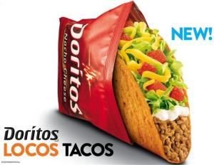 This photo provided by Taco Bell shows a new advertisement for Doritos Locos Tacos shells.