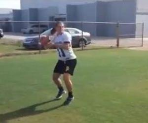Erin DiMeglio works out in this YouTube screenshot.