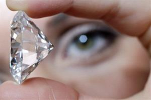 Luckily for the suspect, the diamond in question is nowhere near this size. This is a file photo of an 84-carat gem.