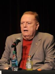 Larry Flynt speaking at The Los Angeles Times Festival of Books at USC in Los Angeles, Calif. on April 30, 2011.
