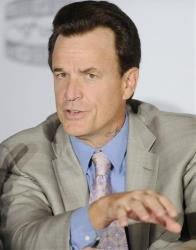 In this April 12, 2011 file photo, director Nick Cassavetes participates in a news conference for the film Gotti: Three Generations, based on the life of John Gotti, in New York.