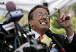 Attorney Dominic Barbara speaks during a press conference in Garden City, New York, Thursday, Aug. 6, 2009.