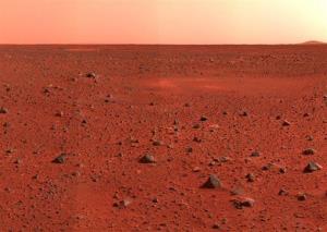 A shot of Mars.