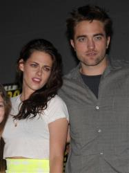 Kristen Stewart and Robert Pattinson attend The Twilight Saga: Breaking Dawn - Part 2 Panel at Comic-Con on Thursday, July 12, 2012, in San Diego, Calif.