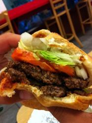 A Five Guys burger.