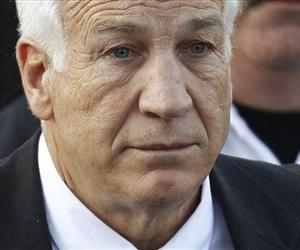 In this Dec. 13, 2011 file photo,?Jerry Sandusky, the former Penn State assistant football coach charged with sexually abusing boys, leaves the Centre County Courthouse in Bellefonte, Pa.