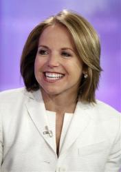 In this May 28, 2008 photo, Katie Couric, anchor of the CBS Evening News, is interviewed on the NBC Today television program, in New York.