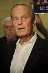 Republican Rep. Todd Akin speaks to reporters in the Missouri Capitol building rotunda as part of his Missouri Common Sense bus tour yesterday.
