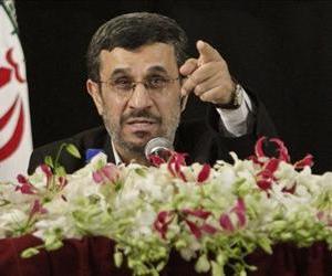 Iranian President Mahmoud Ahmadinejad fieldsa question during a press conference in New York after addressing the 67th session of the United Nations General Assembly, Sept. 26, 2012.