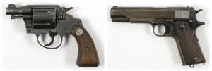 Guns once owned by Clyde Barrow (the one on the right) and Bonnie Parker went for $504,000 at auction.