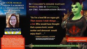 The Maine GOP is sending out postcards like this one attacking Colleen Lachowicz.