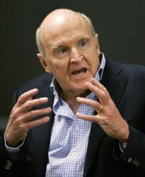 Former General Electric CEO Jack Welch in a file photo.