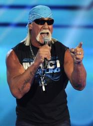 Hulk Hogan is seen onstage at Spike TV's Video Game Awards on Saturday, Dec. 10, 2011, in Culver City, Calif.