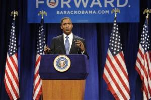 This Sept. 15, 2012 photo released by NBC shows Jay Pharoah portraying President Barack Obama during a skit from the late night comedy series Saturday Night Live, in New York.
