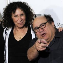 Danny DeVito and his wife Rhea Perlman, who have cameos in the film Cat Dragged In, pose together at the opening night of the 2008 Beverly Hills Film Festival in Beverly Hills, Calif., April 9, 2008.