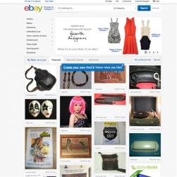 This screenshot shows EBay's redesigned website.
